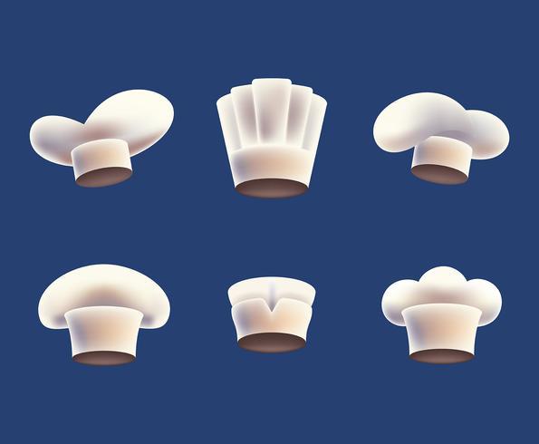 Illustrazione del cappello del cuoco unico vettore