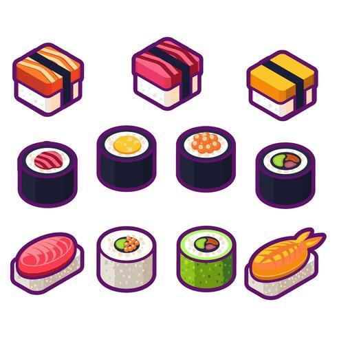 Sushi salutari vettore