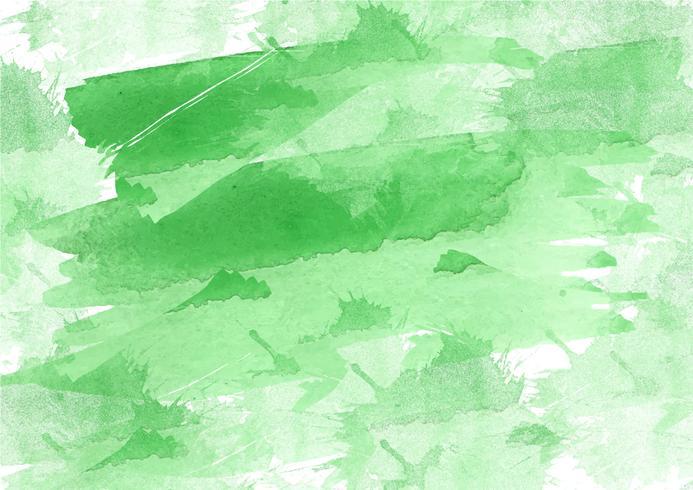 Sfondo acquerello dipinto a mano colorato. Pennellate di acquerello verde. Struttura astratta dell'acquerello e sfondo per il design. Priorità bassa dell'acquerello su carta ruvida. vettore
