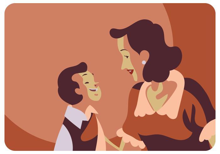 Vettore classico dell'illustrazione di giorno di madri