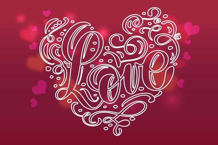 Cartolina di San Valentino con cuore vintage vettore