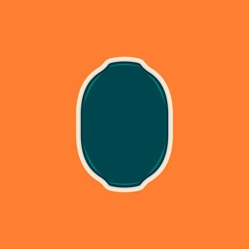 Cornice per scudo a forma di ellisse vuota o modello di badge per logo vettore