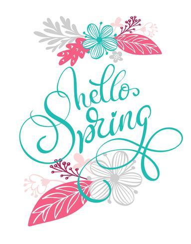 Ciao mano di primavera vettore