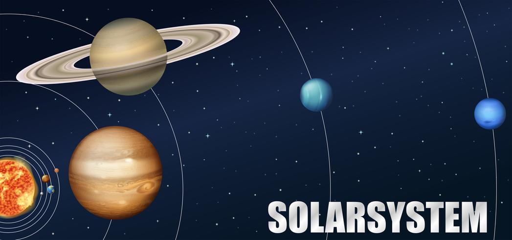 Un'astronomia del sistema solare vettore