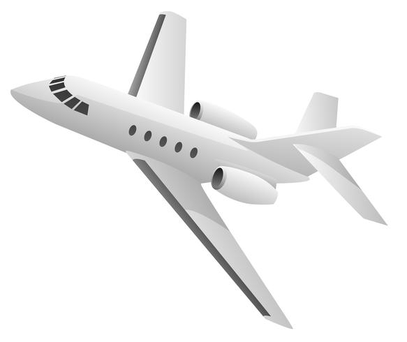 Illustrazione di vettore dell'aeroplano del getto di affari