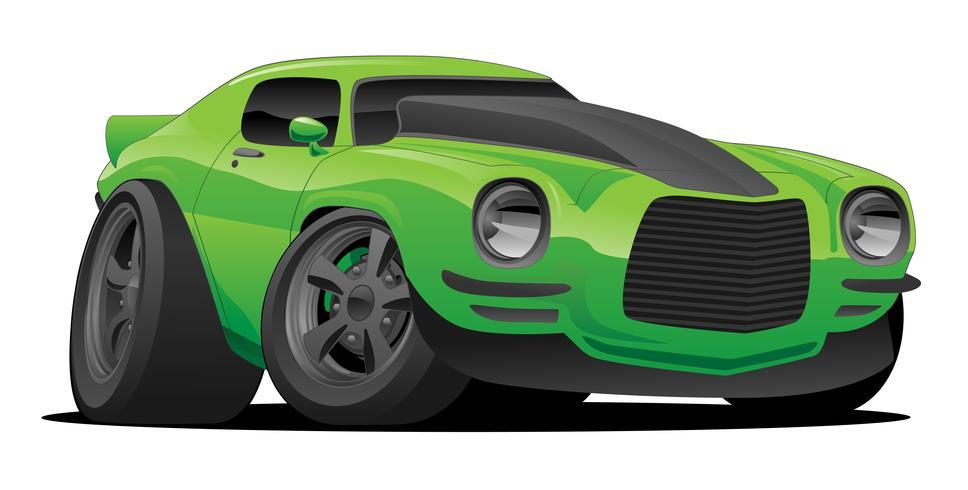 Illustrazione americana classica di vettore del fumetto dell'automobile del muscolo
