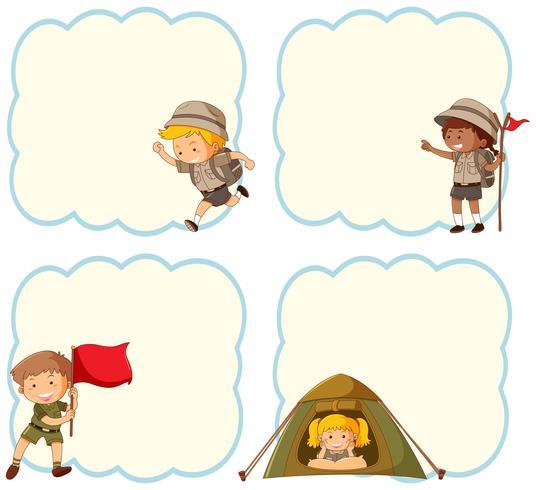 Camping bandiera vuota bambini vettore