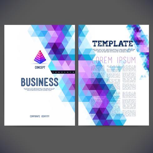 Disegno del modello vettoriale astratto, brochure, siti Web, pagina, depliant, con sfondi triangolari geometrici colorati