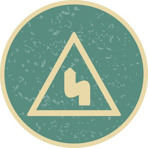 Vector Doppia piegatura a sinistra Icona