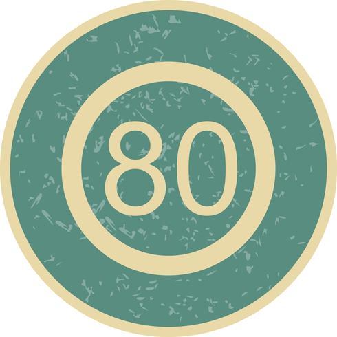 Icona di limite di velocità 80 vettore