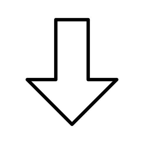 Giù icona vettoriale