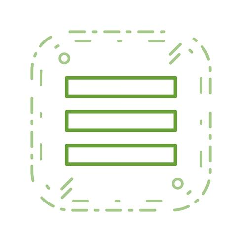 Icona di vettore del menu