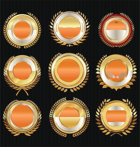 La vendita dorata identifica la retro raccolta di disegno dell'annata vettore