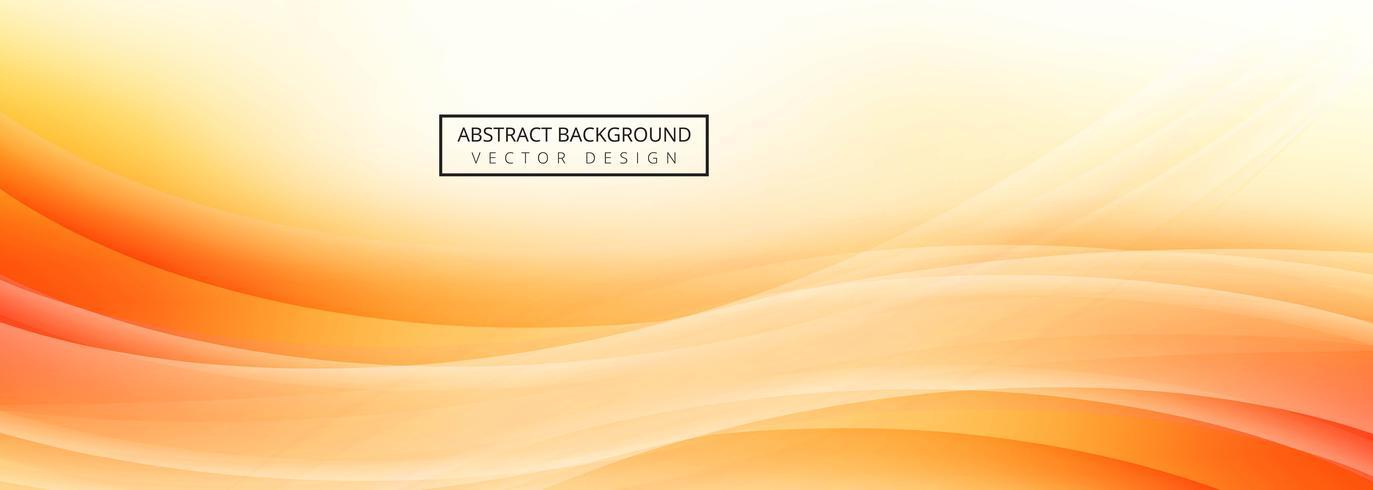 Disegno del modello banner onda astratta vettore