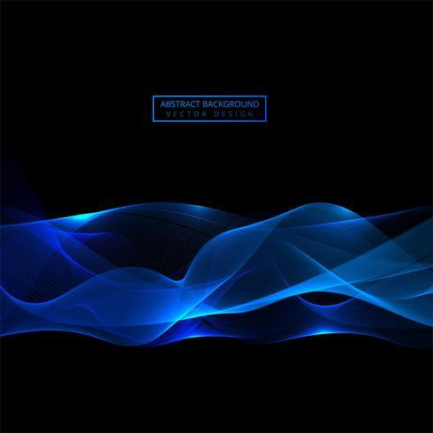 Elegante sfondo blu onda lucida vettore