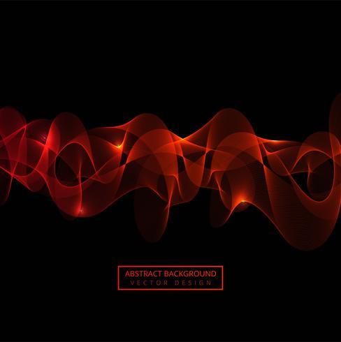 Astratto rosso che scorre onda sfondo vettore
