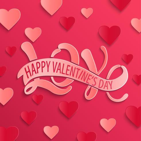 Scheda di disegno felice giorno di San Valentino. vettore