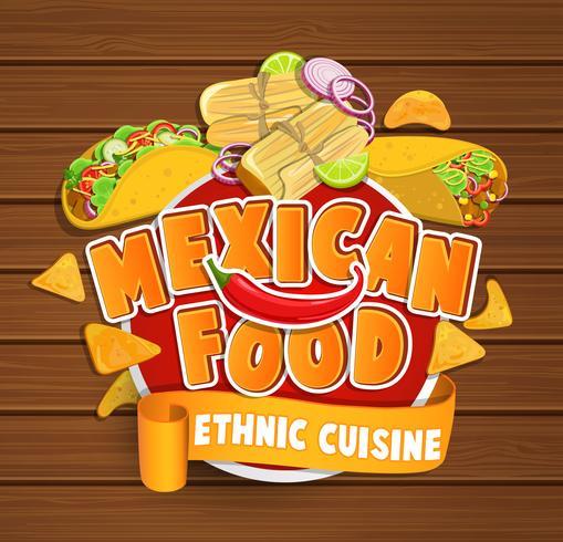 cibo messicano vettore