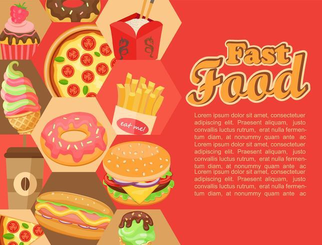 Fast food, vettoriale. vettore