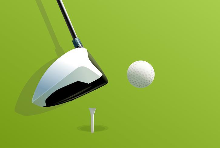 Mettendo il golf vettore