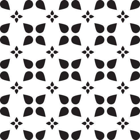 Piastrellatura universale in bianco e nero senza cuciture vettore