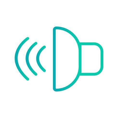 Illustrazione vettoriale icona del suono