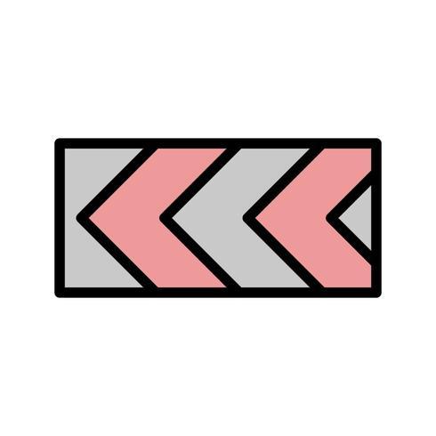 Vector Sharp deviazione del percorso a sinistra Road Sign Icon