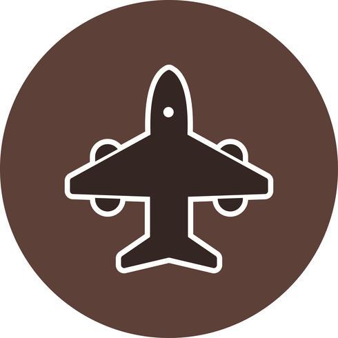 Icona dell'aeroplano di vettore