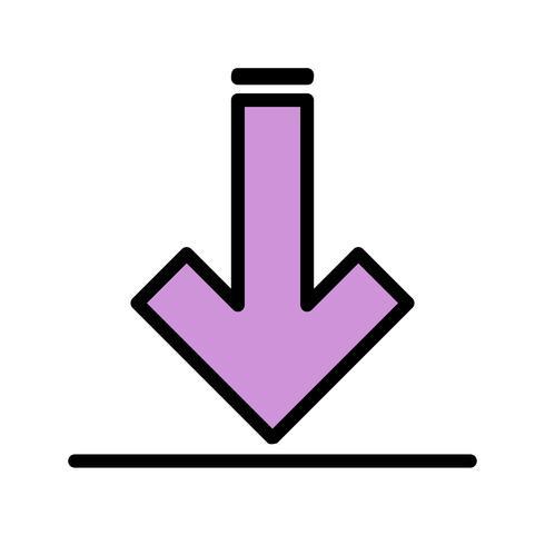 Icona di download del vettore