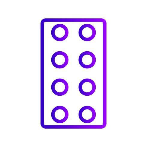 Icona di compresse vettoriale