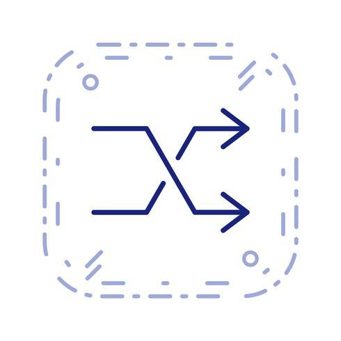 shuffle icona illustrazione vettoriale