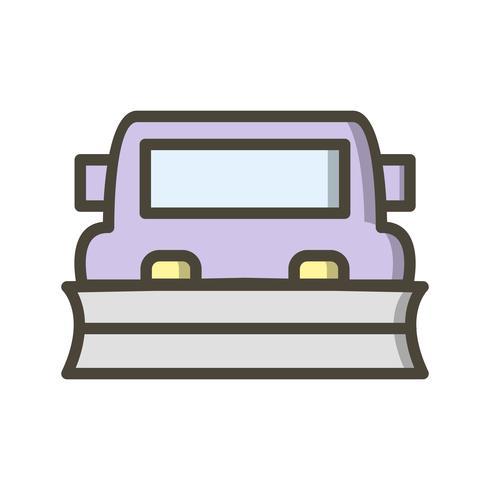 Icona di vettore spazzaneve
