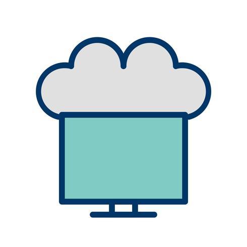Vettore collegato all'icona della nuvola