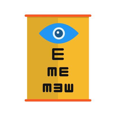 Icona di prova dell'occhio vettoriale