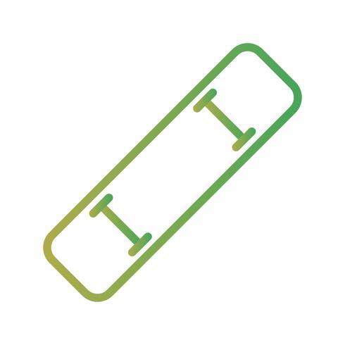 Icona del bordo del pattino di vettore