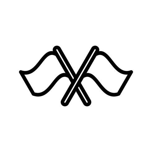 Corsa icona illustrazione vettoriale