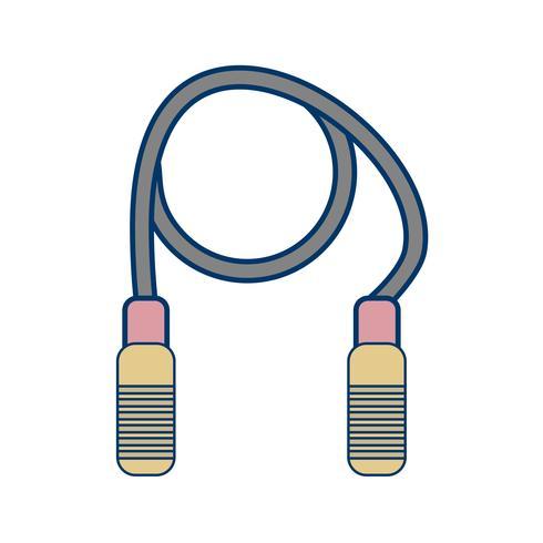 Illustrazione di vettore dell'icona della corda di salto