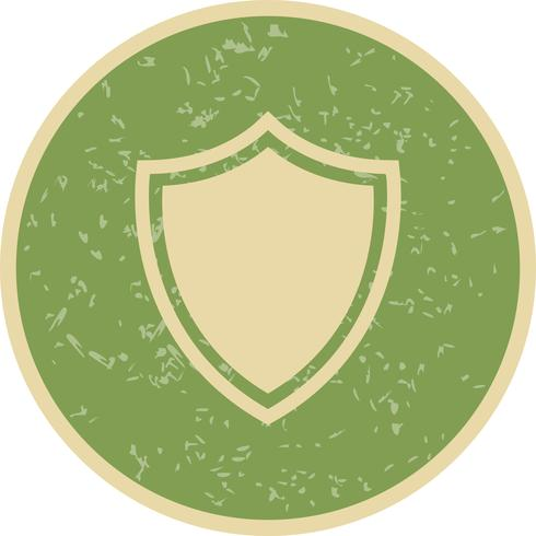 Icona scudo vettoriale