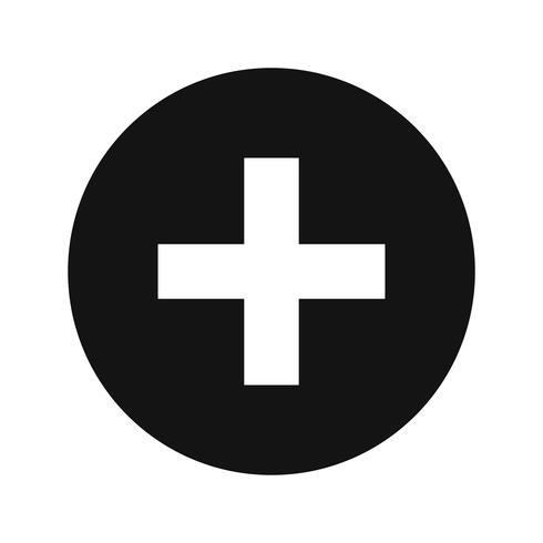 Icona del segno medico di vettore