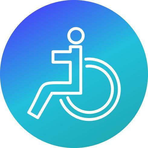 Icona per disabili vettore