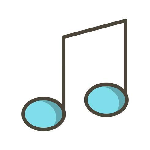 Illustrazione di vettore dell'icona della nota di musica
