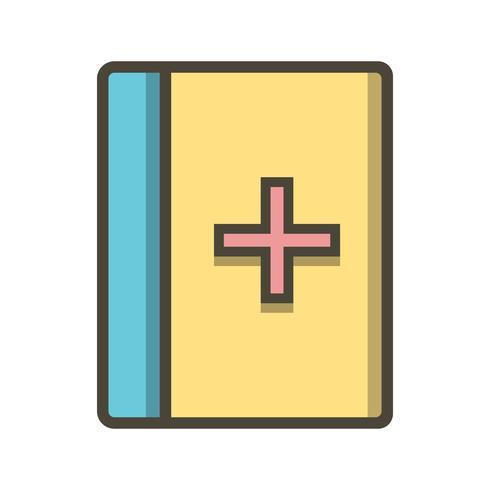 Icona del libro medico di vettore