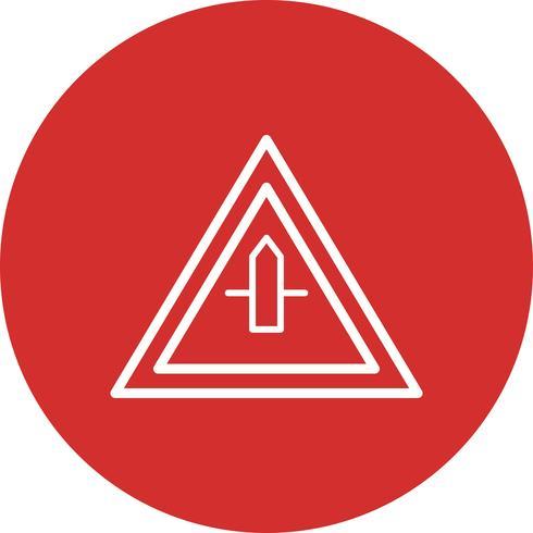 icona di segno strada trasversale minore di vettore