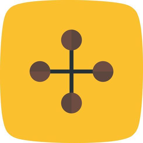Icona di costruzione collegamento vettoriale
