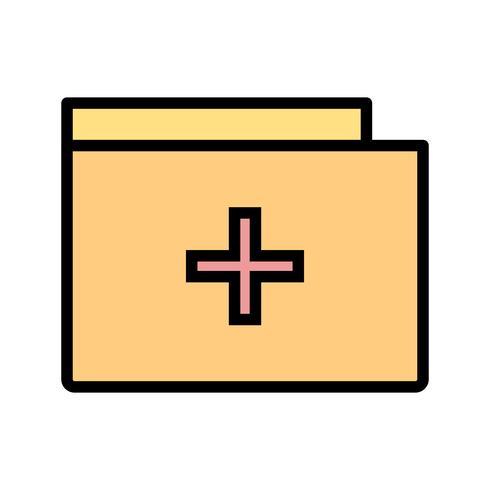 Icona cartella medica vettoriale