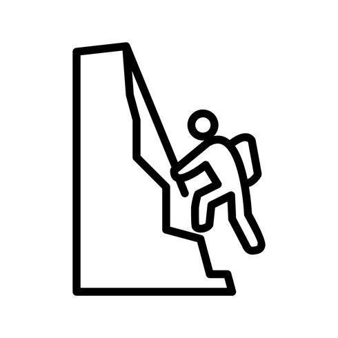Arrampicata icona illustrazione vettoriale