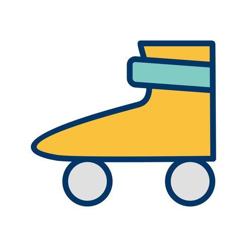 Illustrazione di vettore dell'icona del pattino del rullo