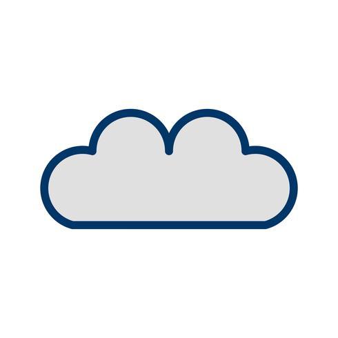Icona della nuvola vettoriale