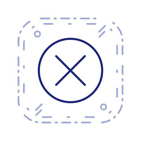 Annulla icona illustrazione vettoriale