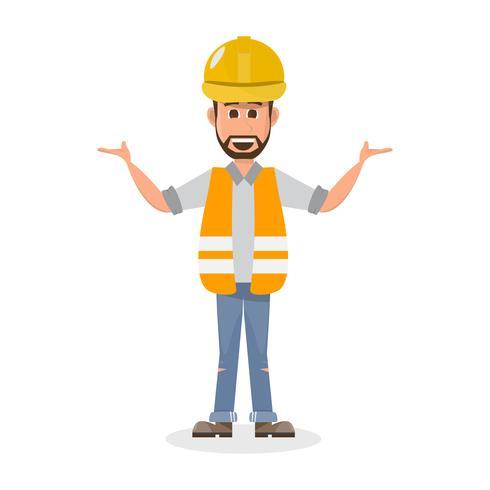 architetto, caporeparto, operaio edile di ingegneria di carattere diverso vettore